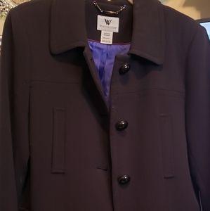 Ladies size Medium black dress coat